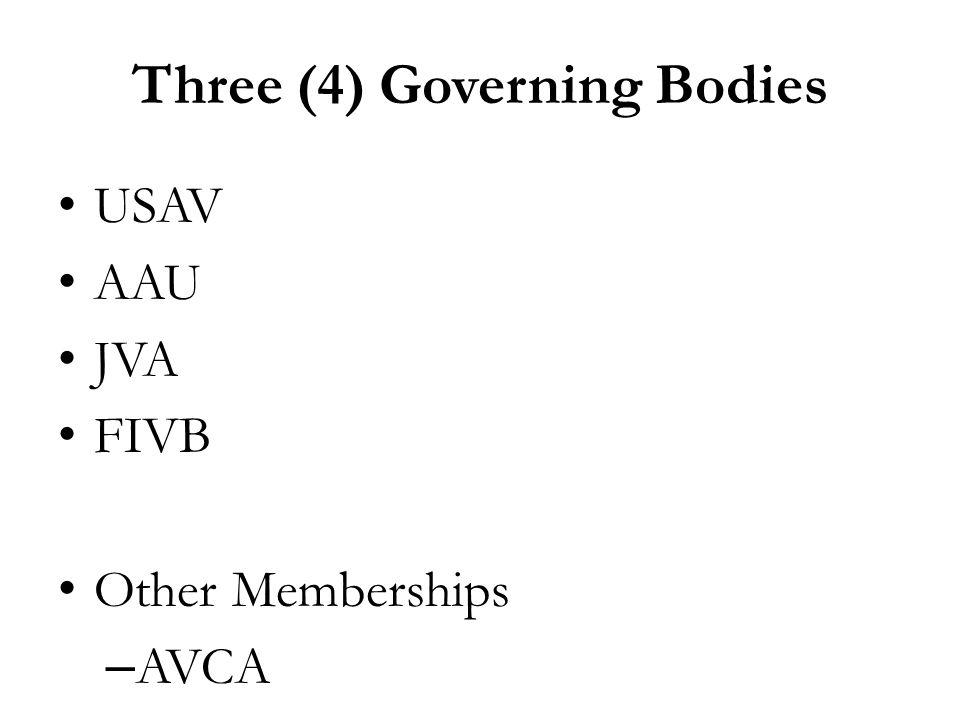 Three (4) Governing Bodies