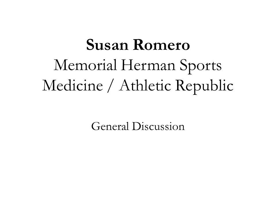 Susan Romero Memorial Herman Sports Medicine / Athletic Republic
