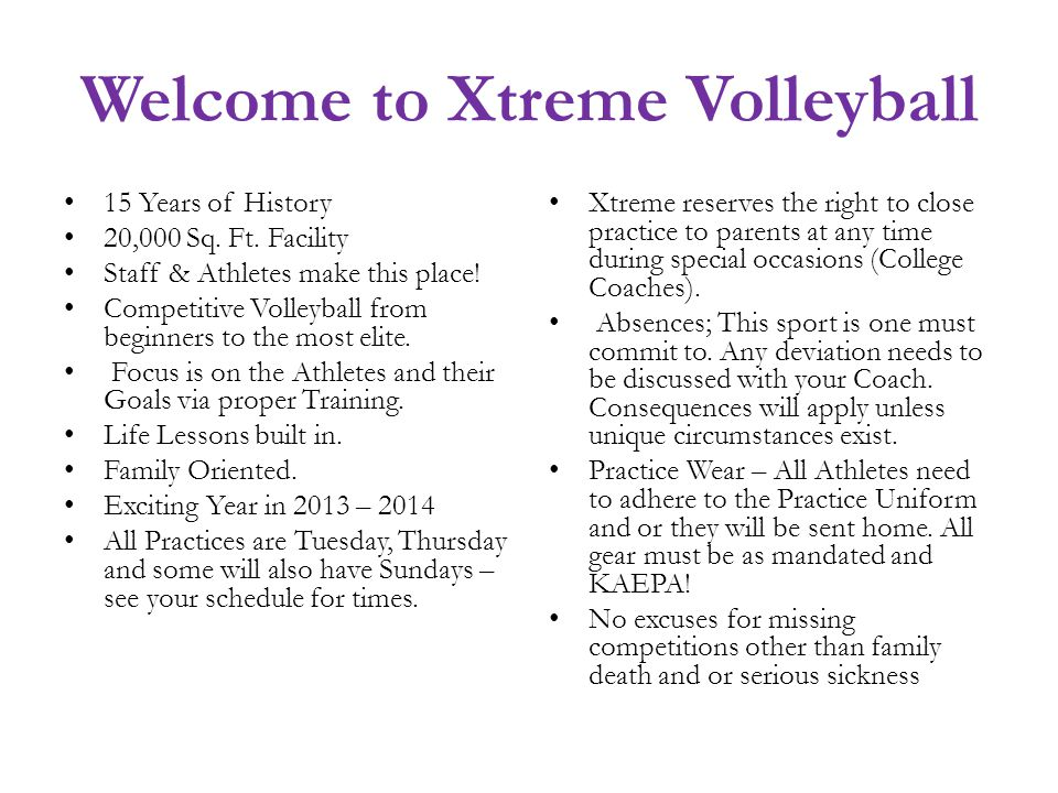 Welcome to Xtreme Volleyball