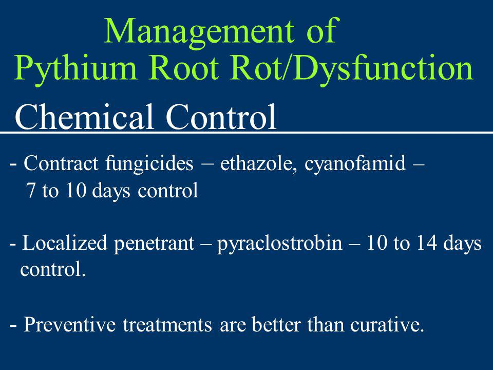 Pythium Root Rot/Dysfunction Chemical Control