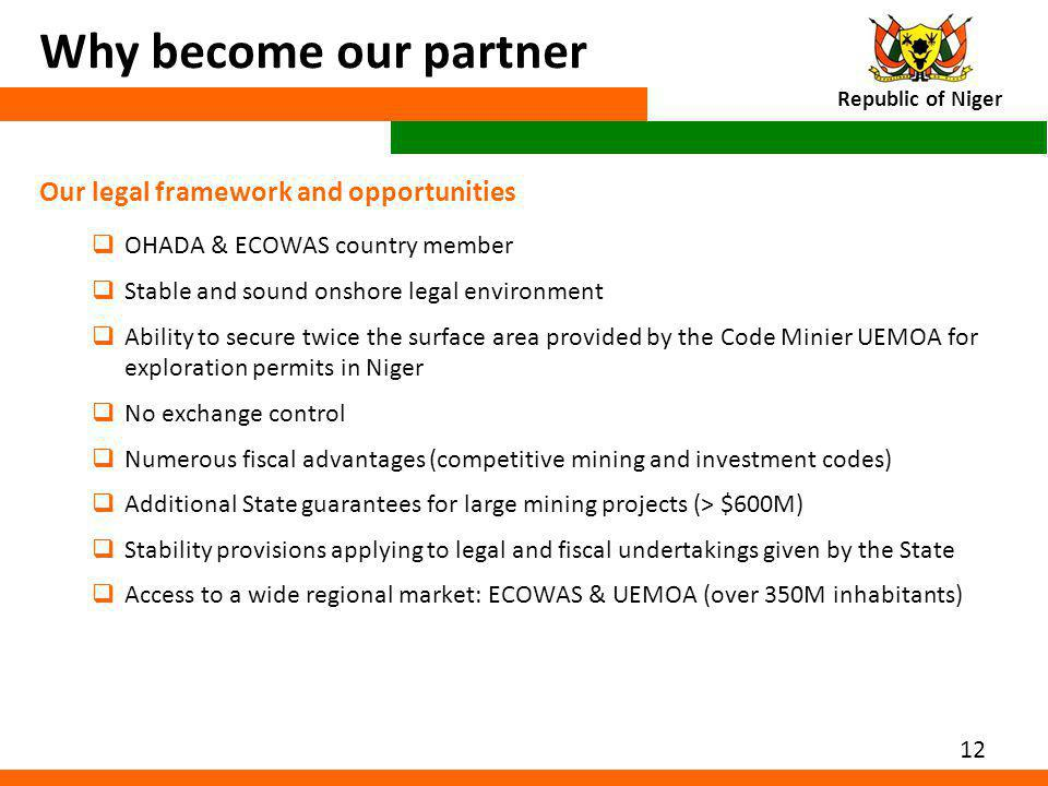 Why become our partner Our legal framework and opportunities