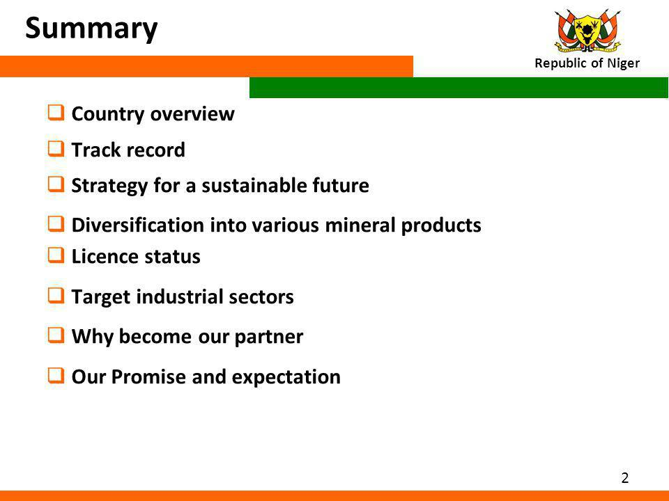 Summary Country overview Track record