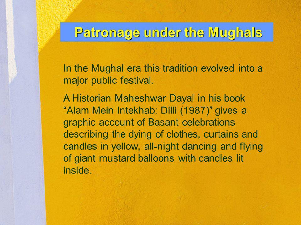 Patronage under the Mughals