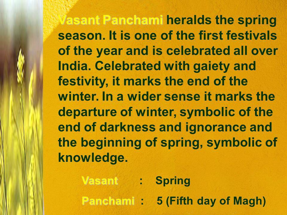 Vasant Panchami heralds the spring season