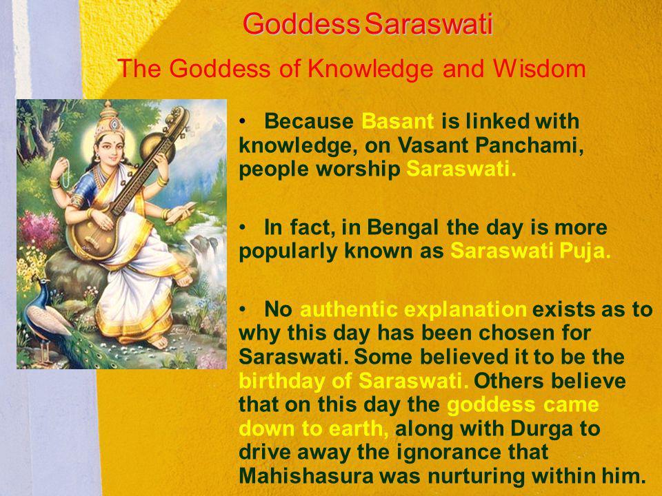 Goddess Saraswati The Goddess of Knowledge and Wisdom