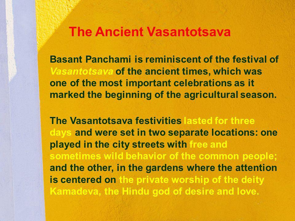 The Ancient Vasantotsava