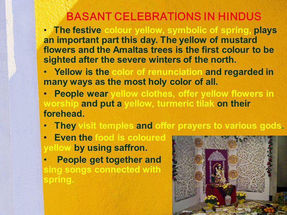 BASANT CELEBRATIONS IN HINDUS