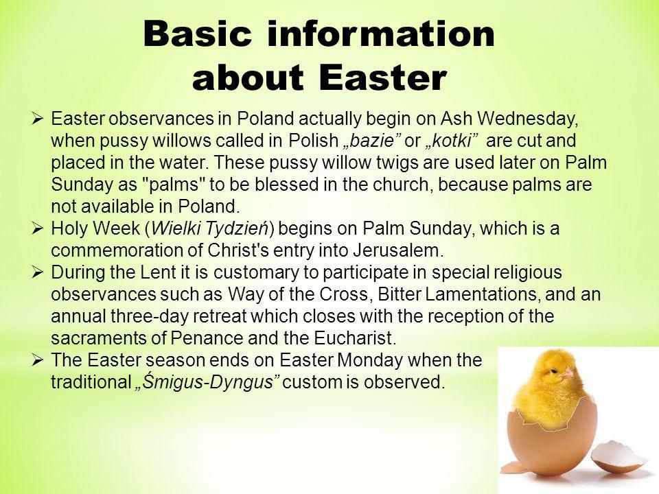 Basic information about Easter