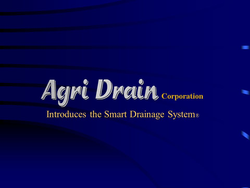 Introduces the Smart Drainage System®