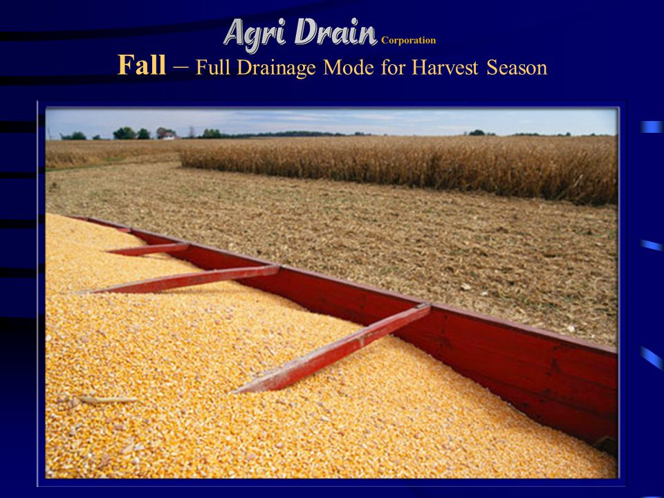 Fall – Full Drainage Mode for Harvest Season