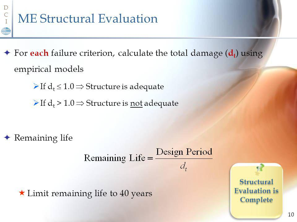 ME Structural Evaluation