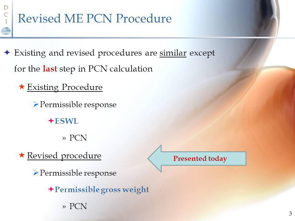 Revised ME PCN Procedure