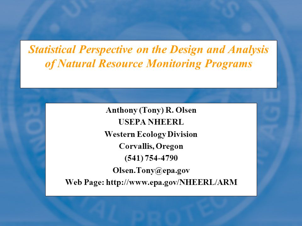 Western Ecology Division Web Page: http://www.epa.gov/NHEERL/ARM