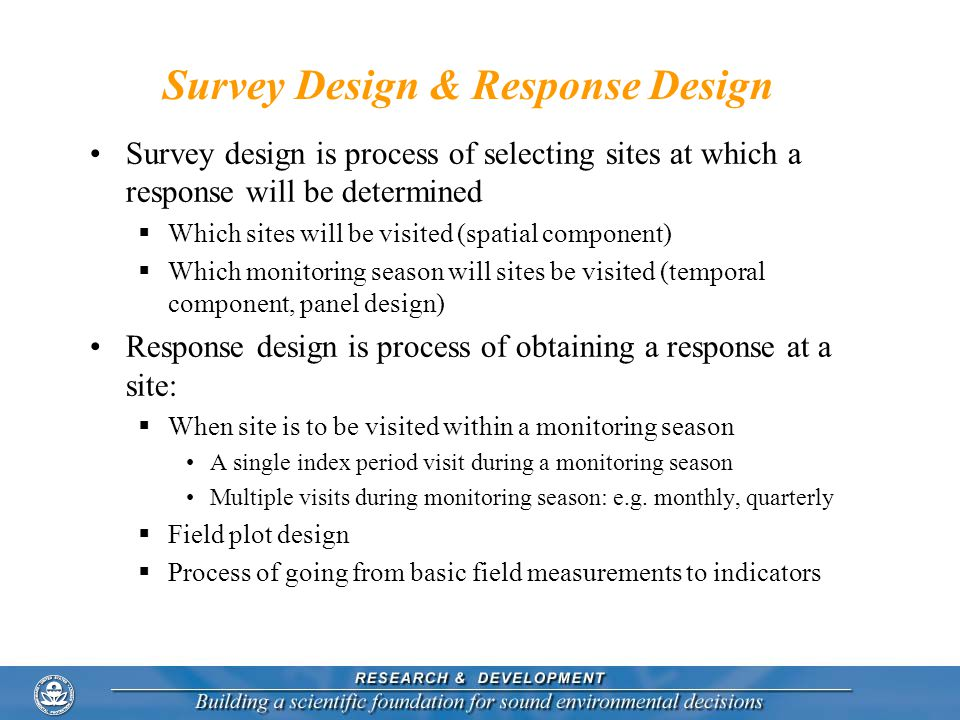 Survey Design & Response Design
