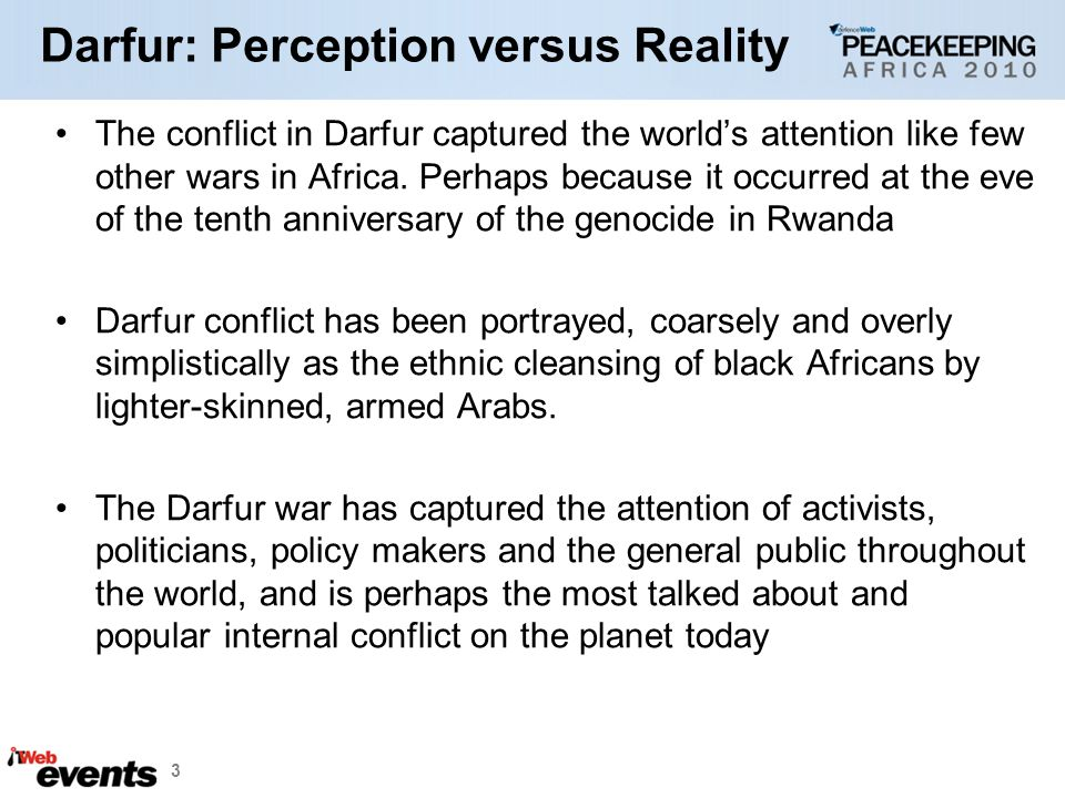 Darfur: Perception versus Reality