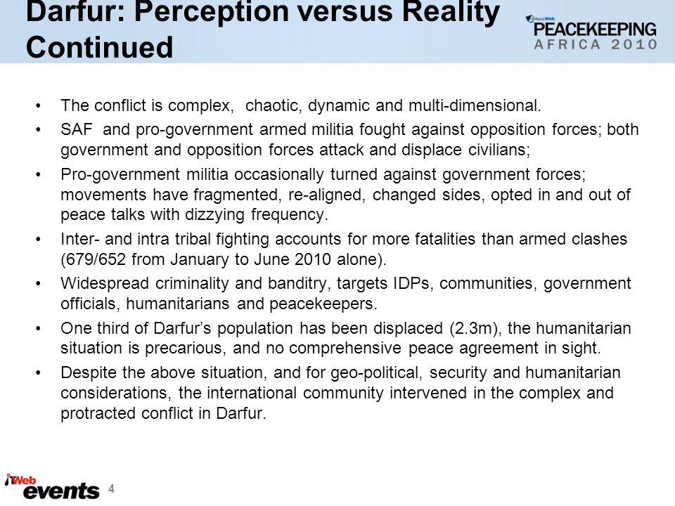 Darfur: Perception versus Reality Continued