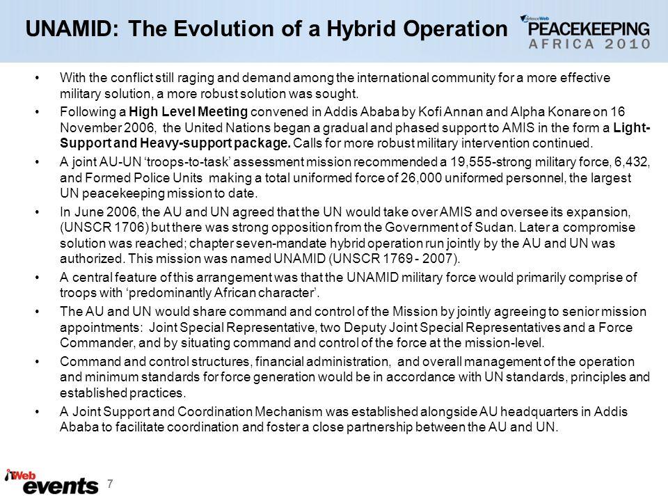 UNAMID: The Evolution of a Hybrid Operation