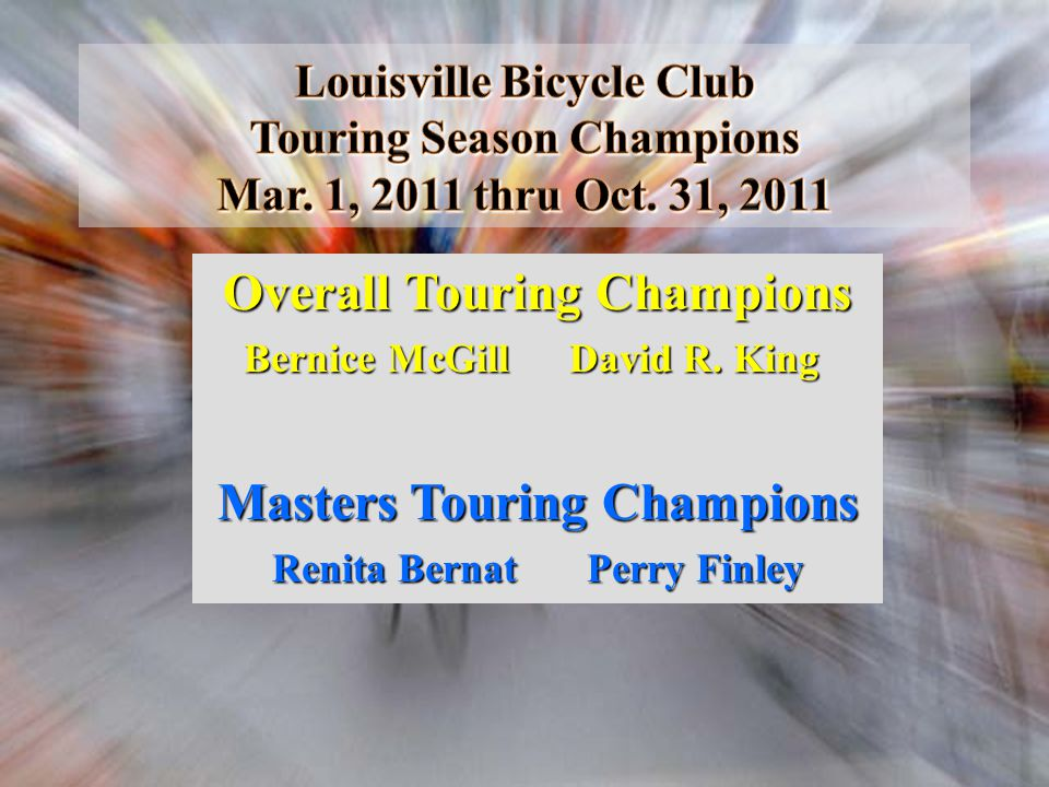 Overall Touring Champions Masters Touring Champions