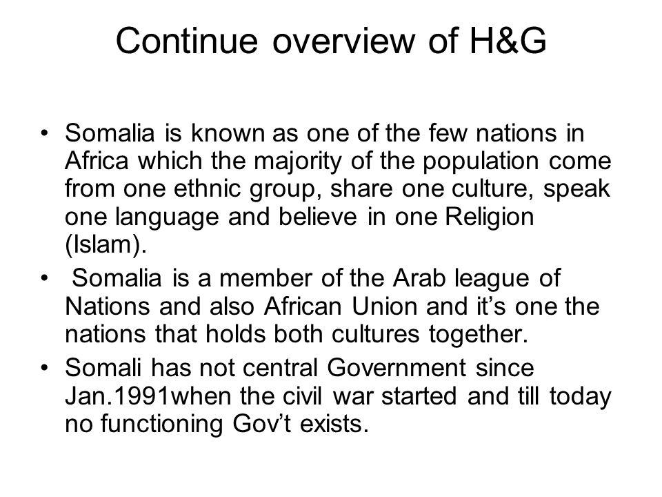 Continue overview of H&G
