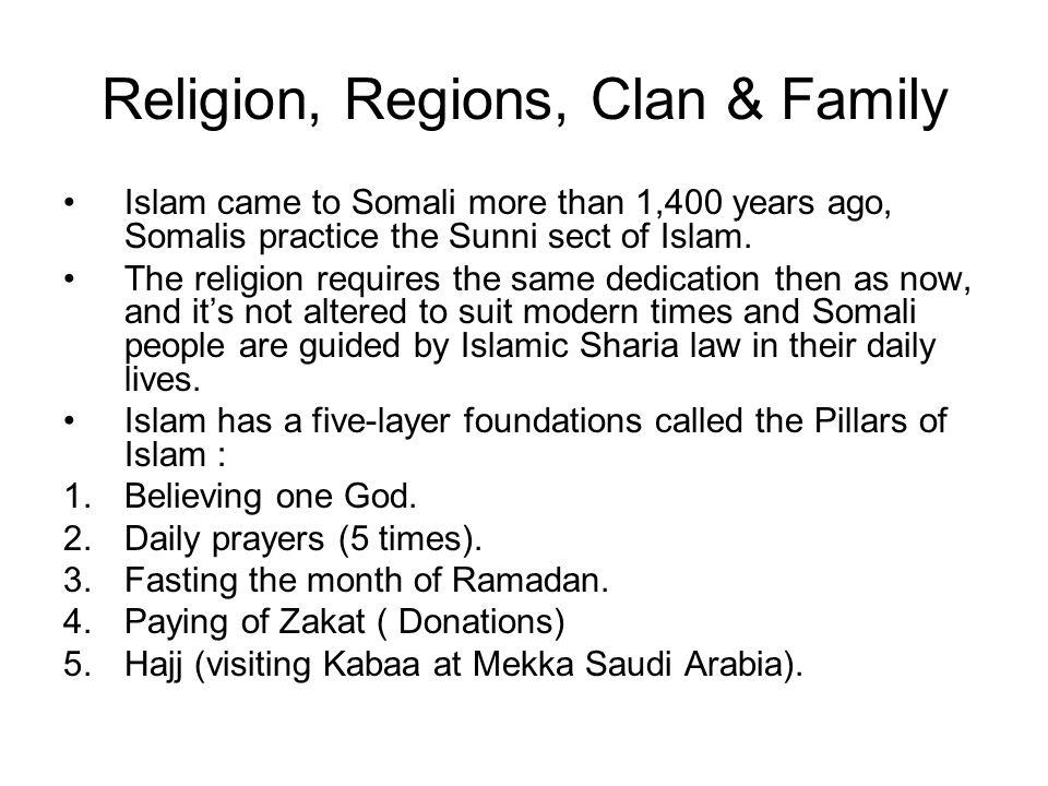 Religion, Regions, Clan & Family