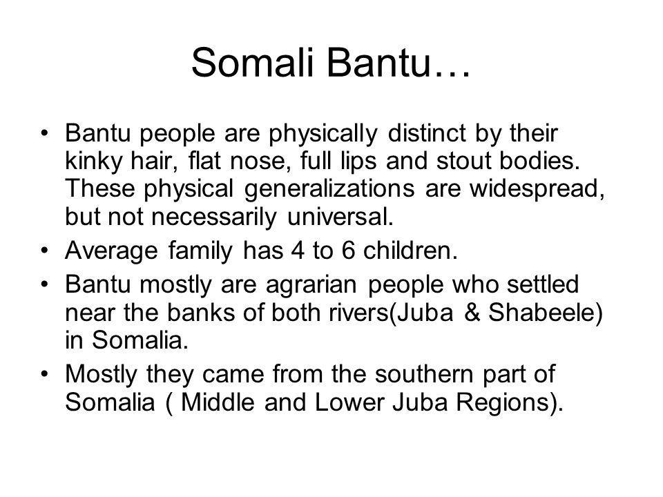 Somali Bantu…