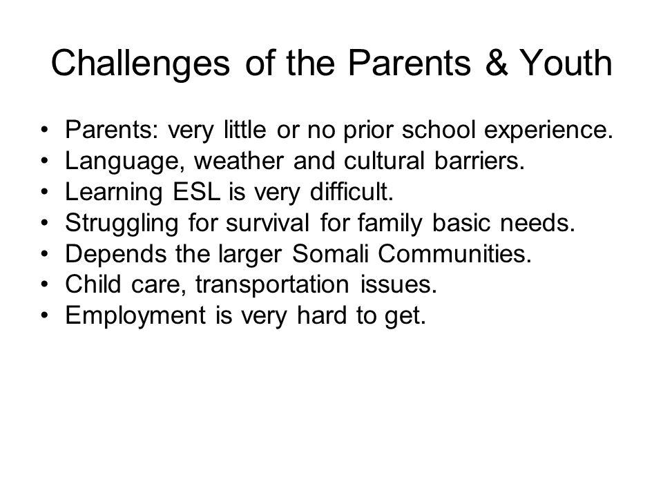 Challenges of the Parents & Youth