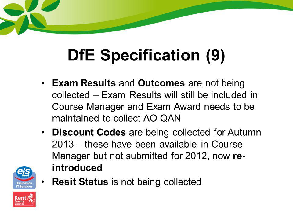 DfE Specification (9)