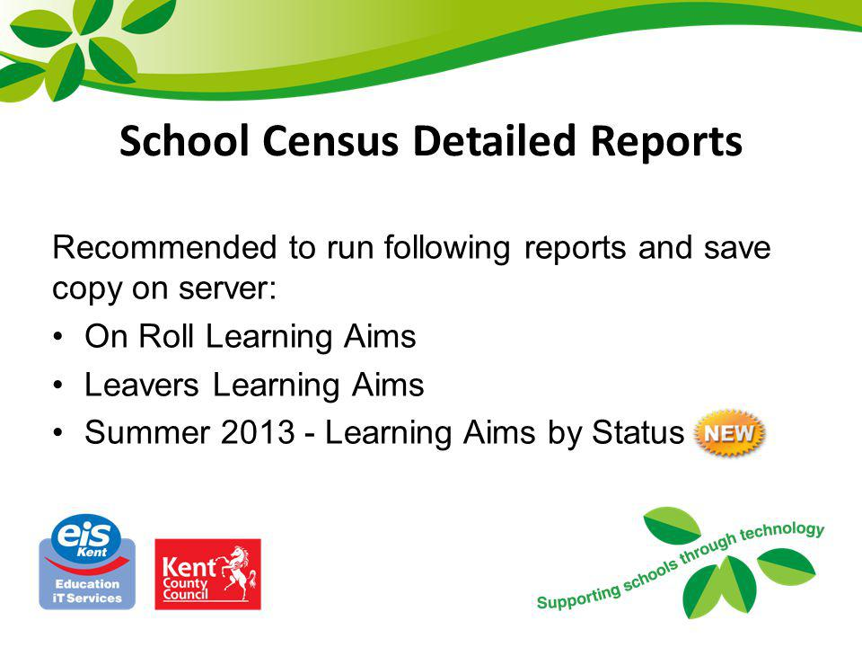 School Census Detailed Reports