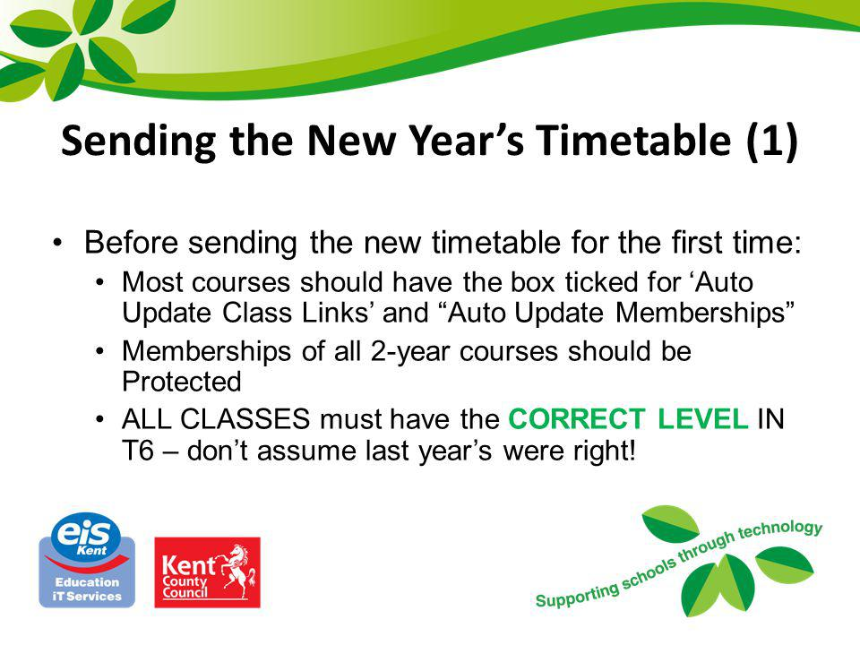 Sending the New Year's Timetable (1)