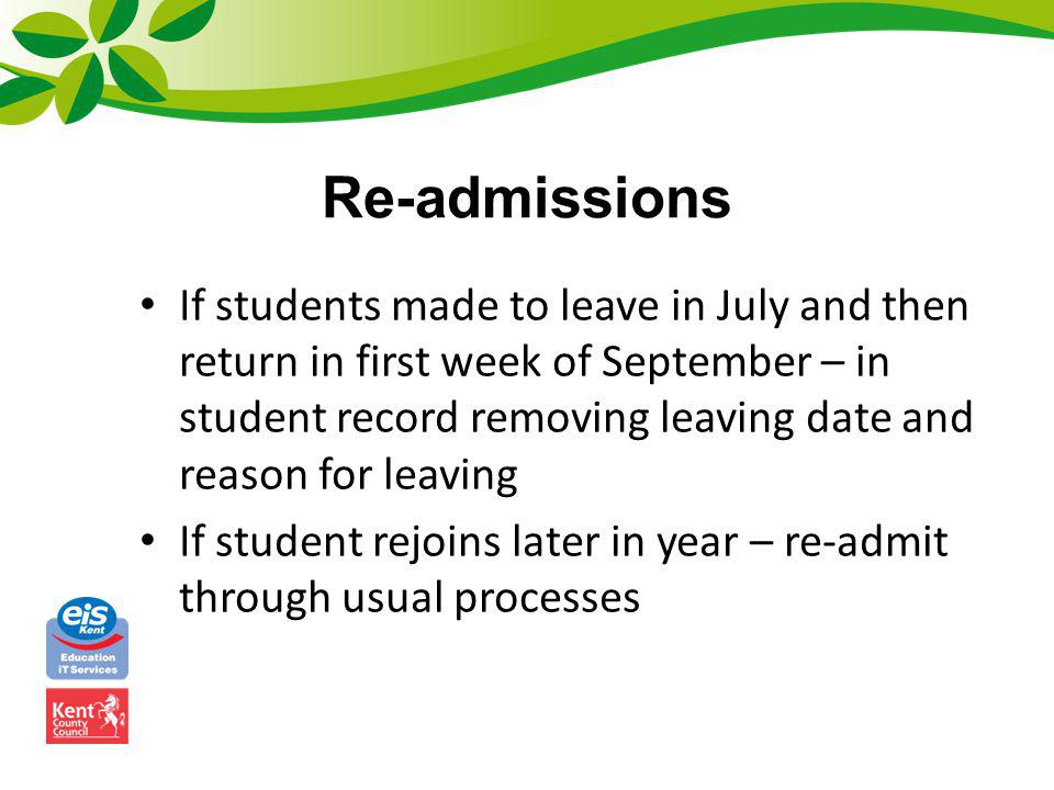 Re-admissions
