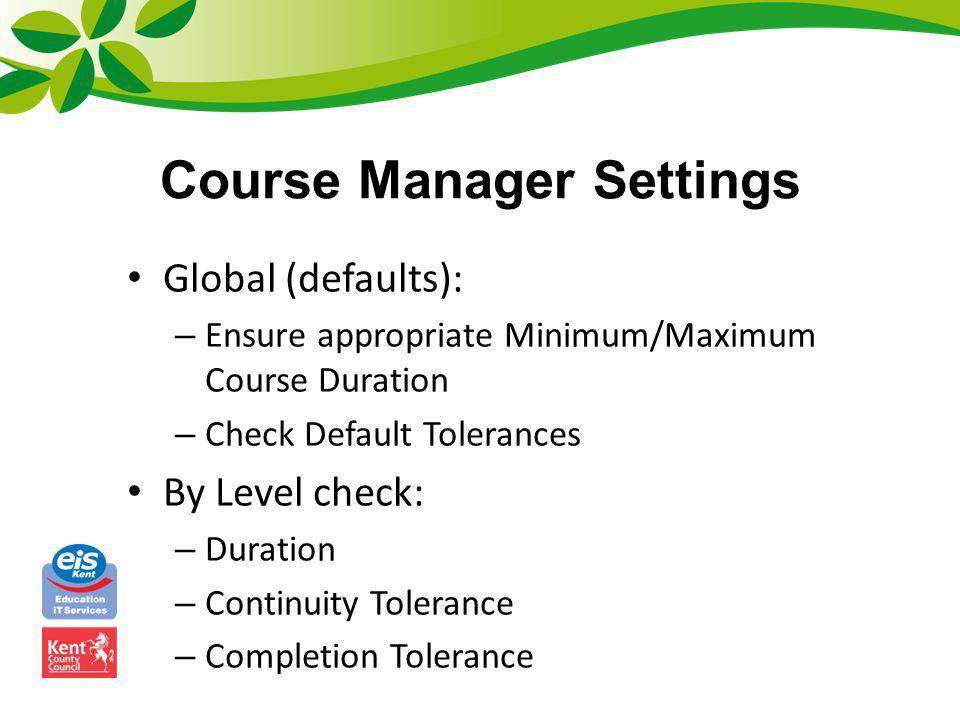 Course Manager Settings