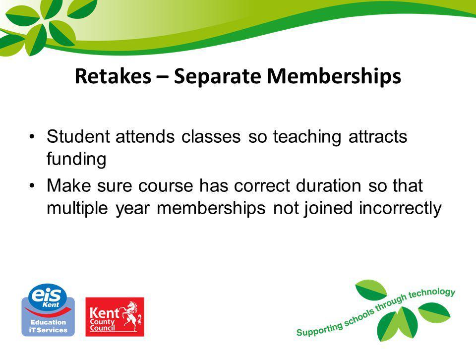 Retakes – Separate Memberships