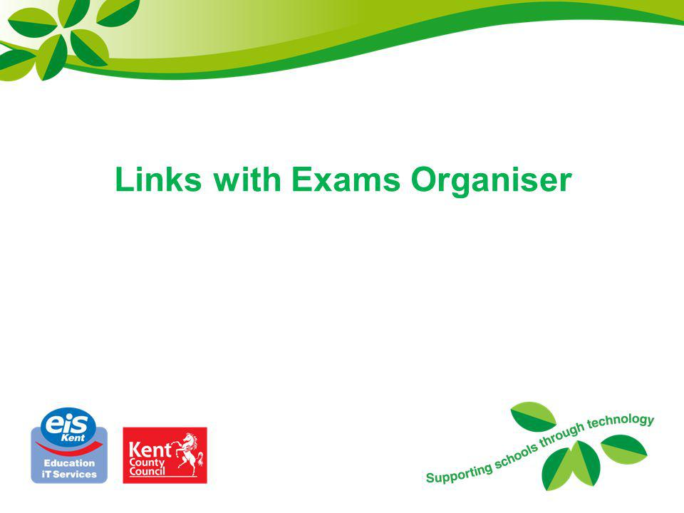 Links with Exams Organiser