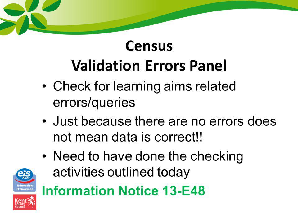 Census Validation Errors Panel