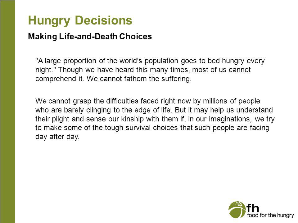 Making Life-and-Death Choices