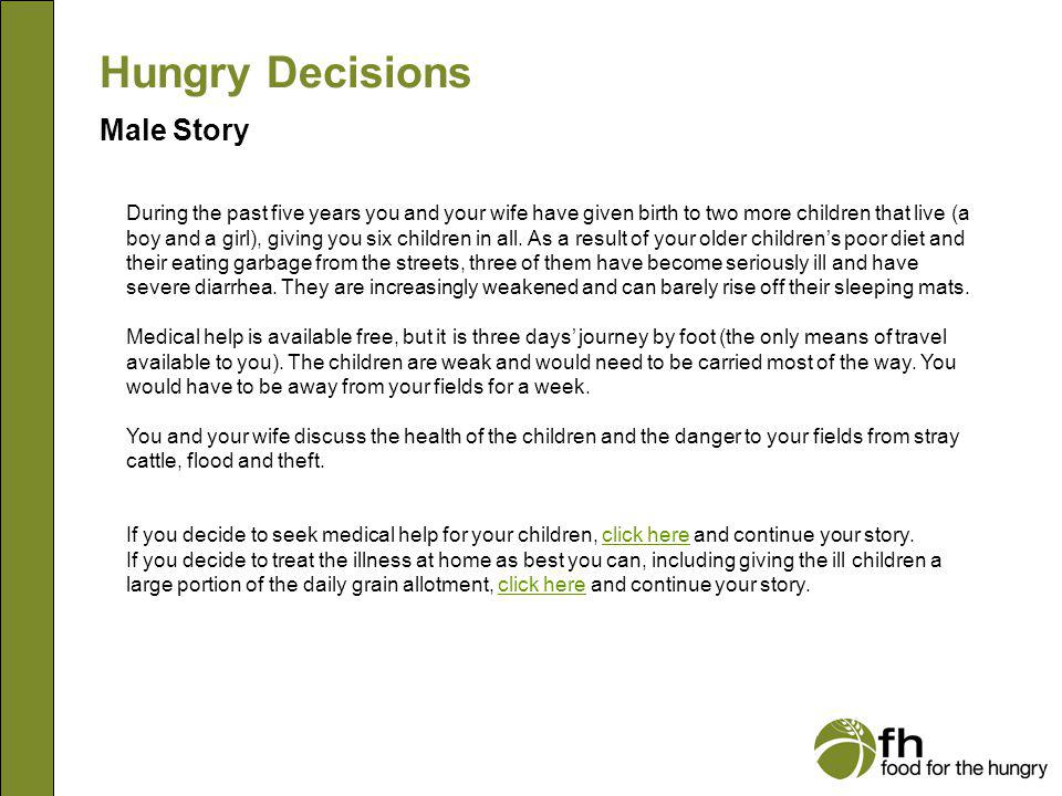 Hungry Decisions Male Story m9