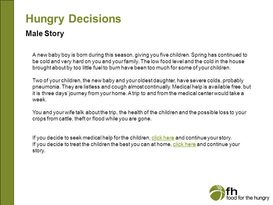 Hungry Decisions Male Story m11