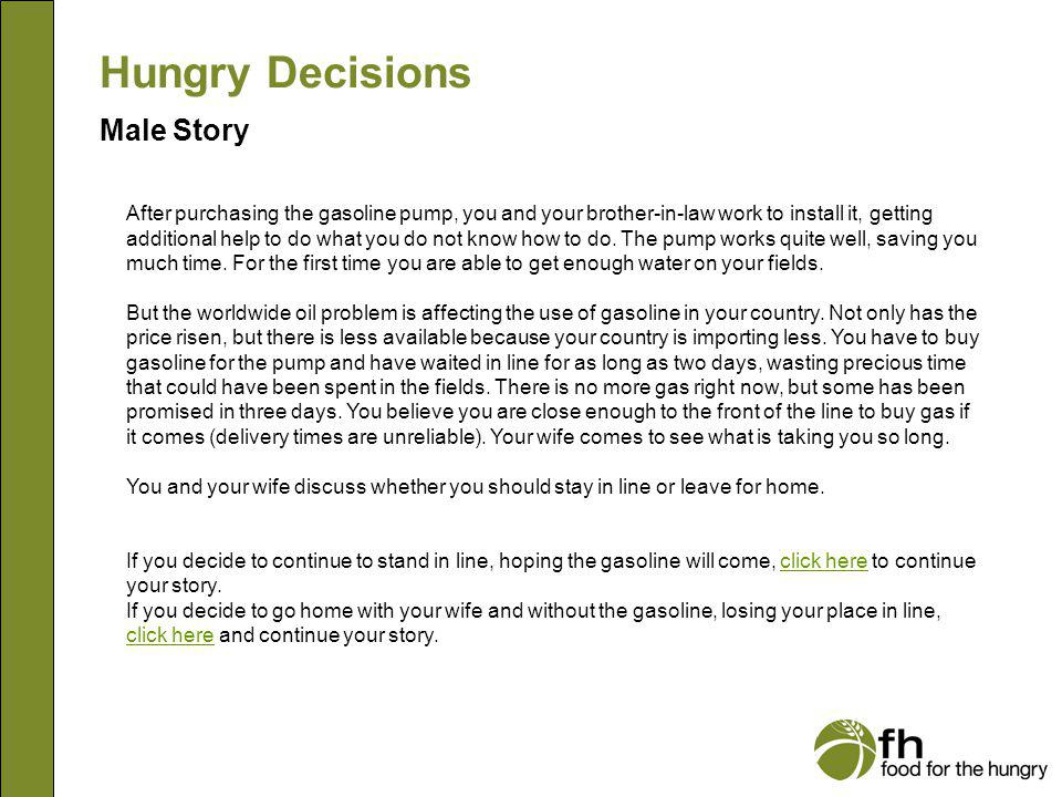 Hungry Decisions Male Story m12