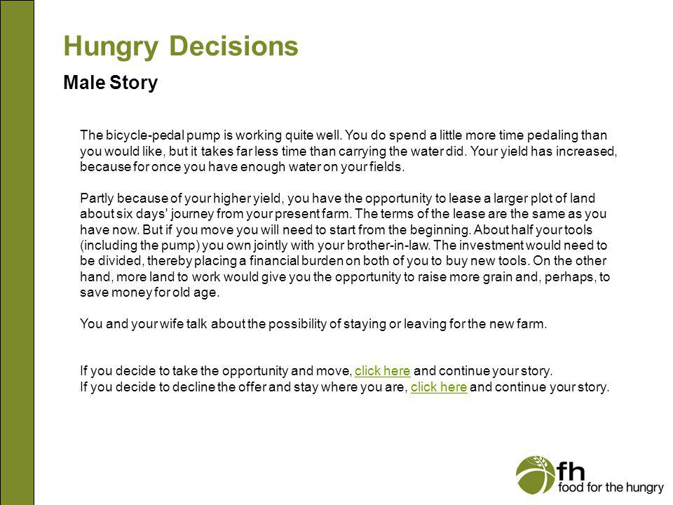 Hungry Decisions Male Story m13