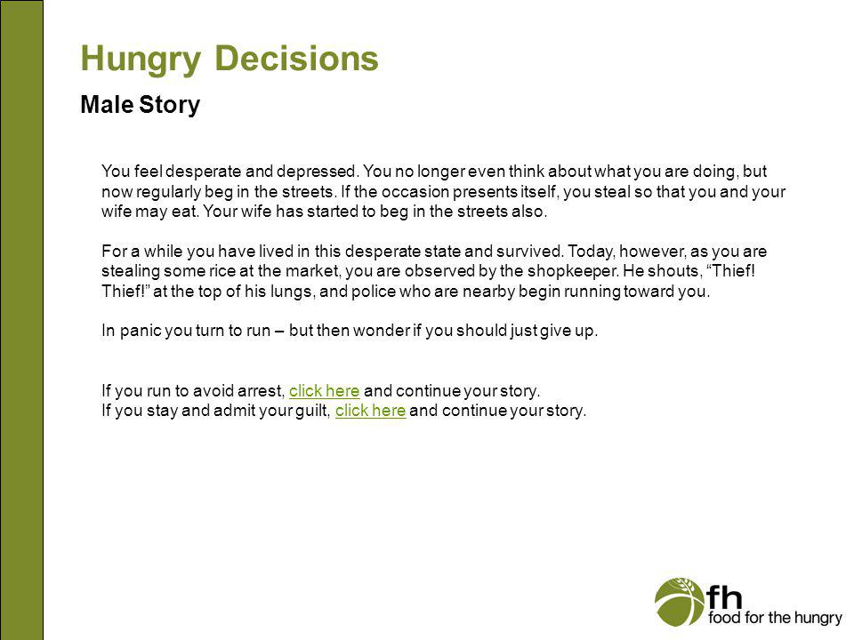 Hungry Decisions Male Story m14