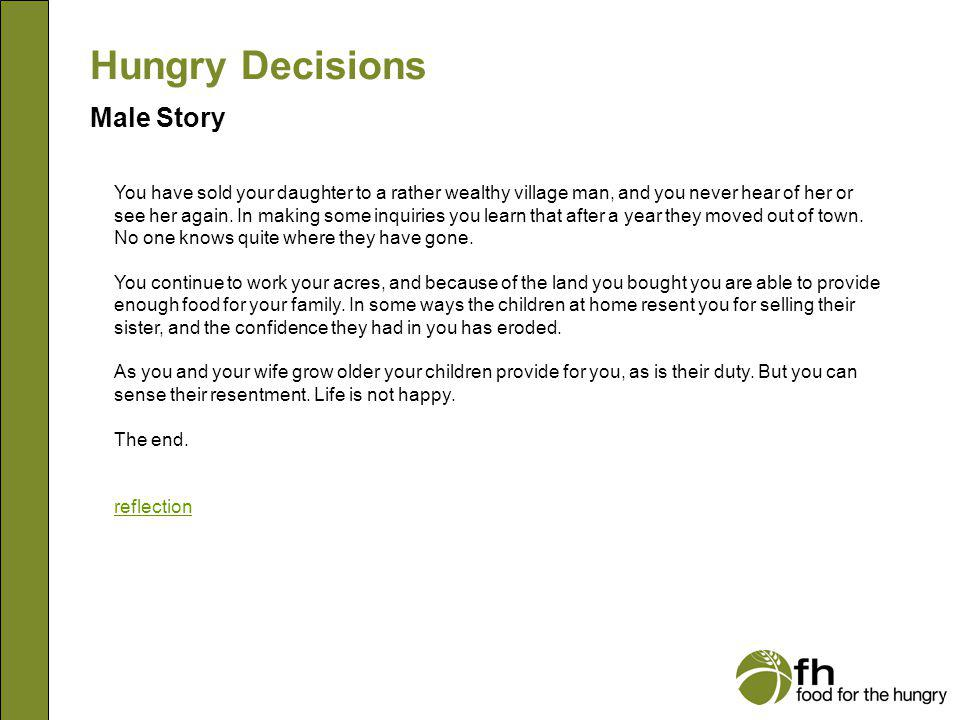 Hungry Decisions Male Story m16