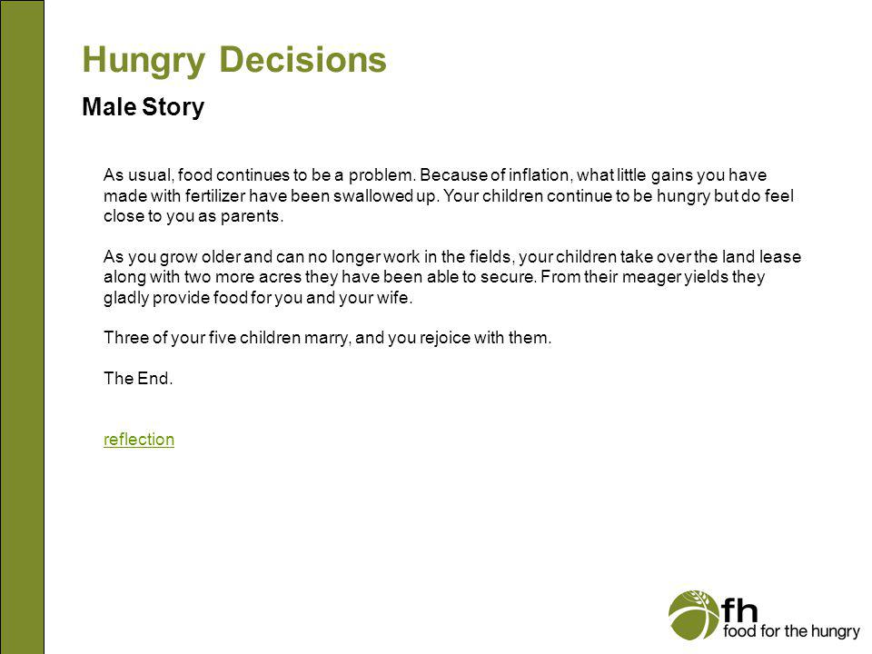Hungry Decisions Male Story m17