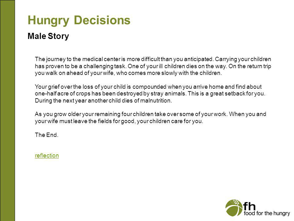 Hungry Decisions Male Story m18