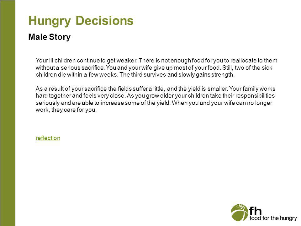 Hungry Decisions Male Story m19