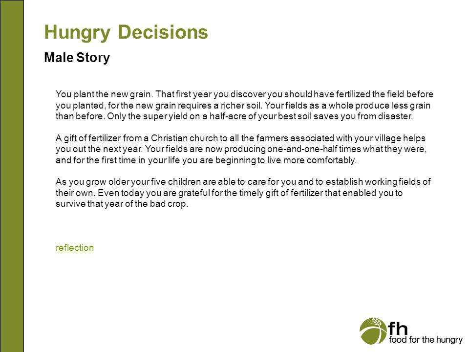 Hungry Decisions Male Story m20