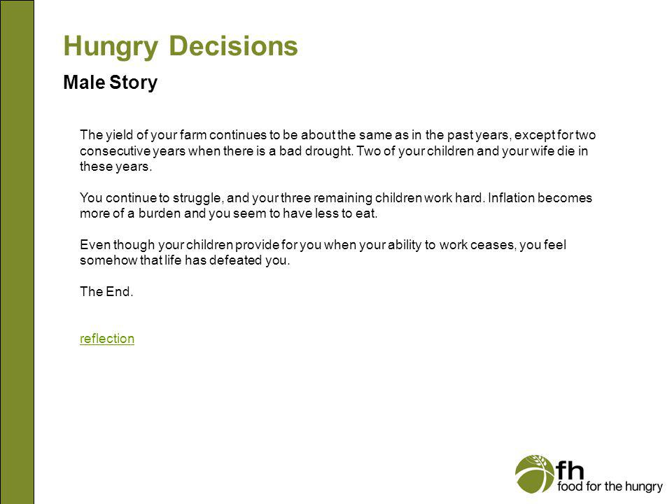 Hungry Decisions Male Story m21