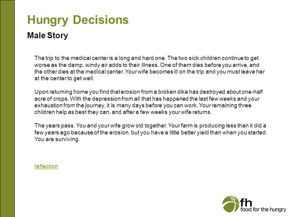 Hungry Decisions Male Story m22