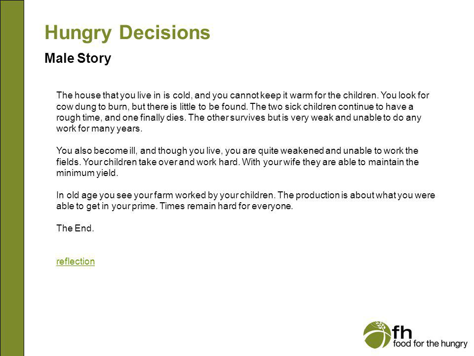 Hungry Decisions Male Story m23