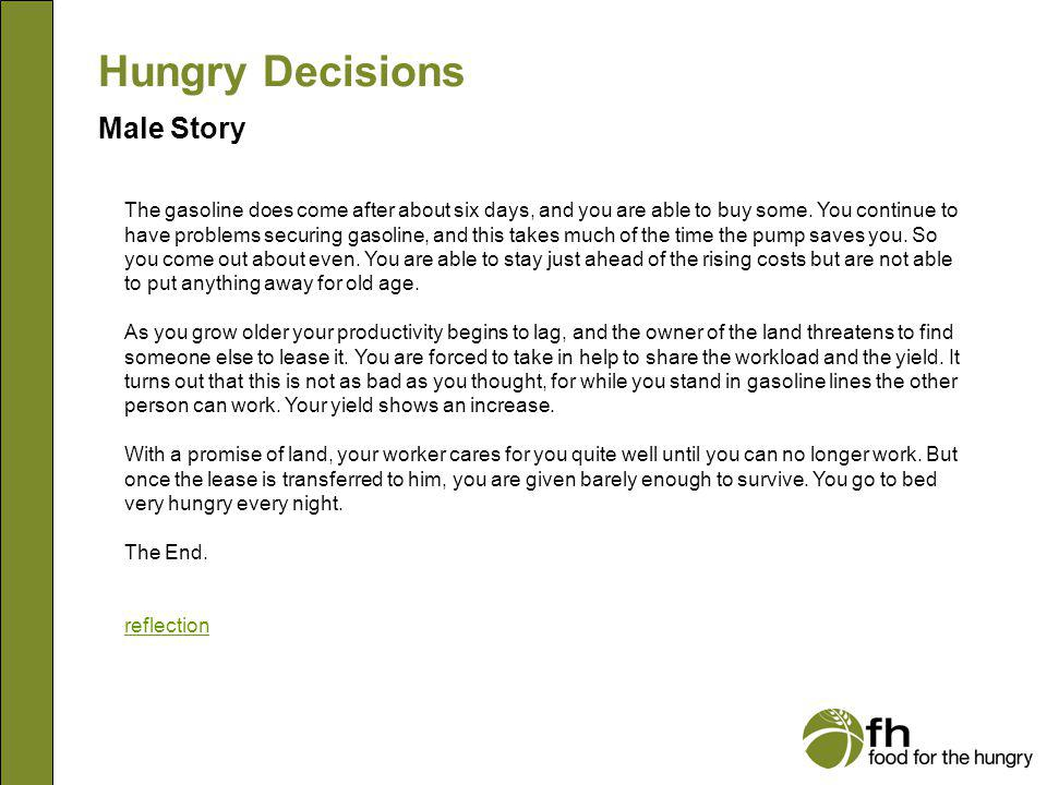 Hungry Decisions Male Story m24