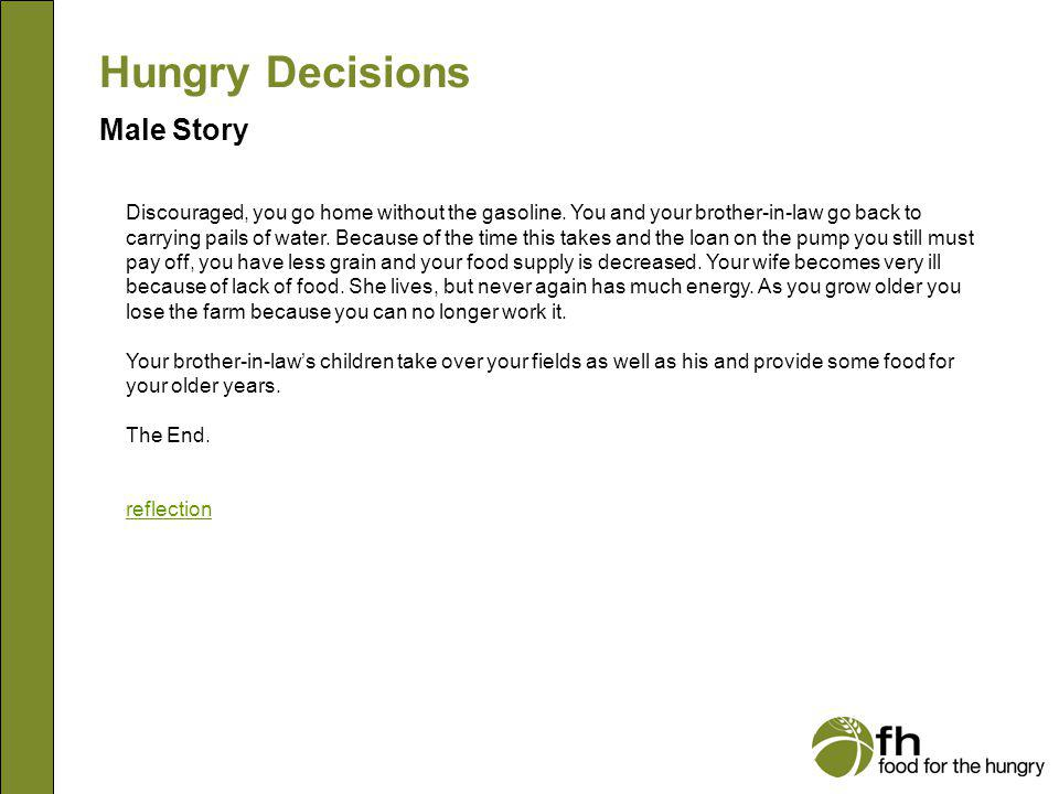 Hungry Decisions Male Story m25
